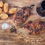 Gegrillte Kotelettes vom Iberico Schwein